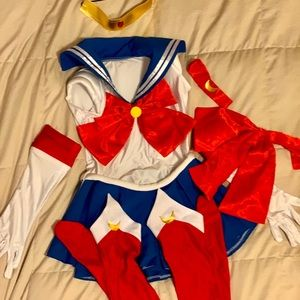 Sailor Moon Costume Cosplay 8 pieces